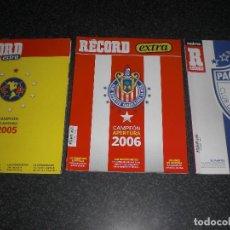 Coleccionismo deportivo: LOTE 3 REVISTAS RECORD CAMPEONES MEXICO (VER TÍTULOS Y DESCRIPCIÓN). Lote 288505853