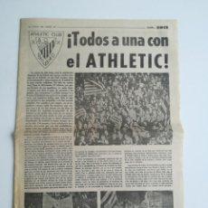 Coleccionismo deportivo: ATHLETIC BILBAO. FINAL COPA UEFA 1977. PERIÓDICO ANTERIOR AL PARTIDO DE VUELTA EN SAN MAMES.. Lote 288684143
