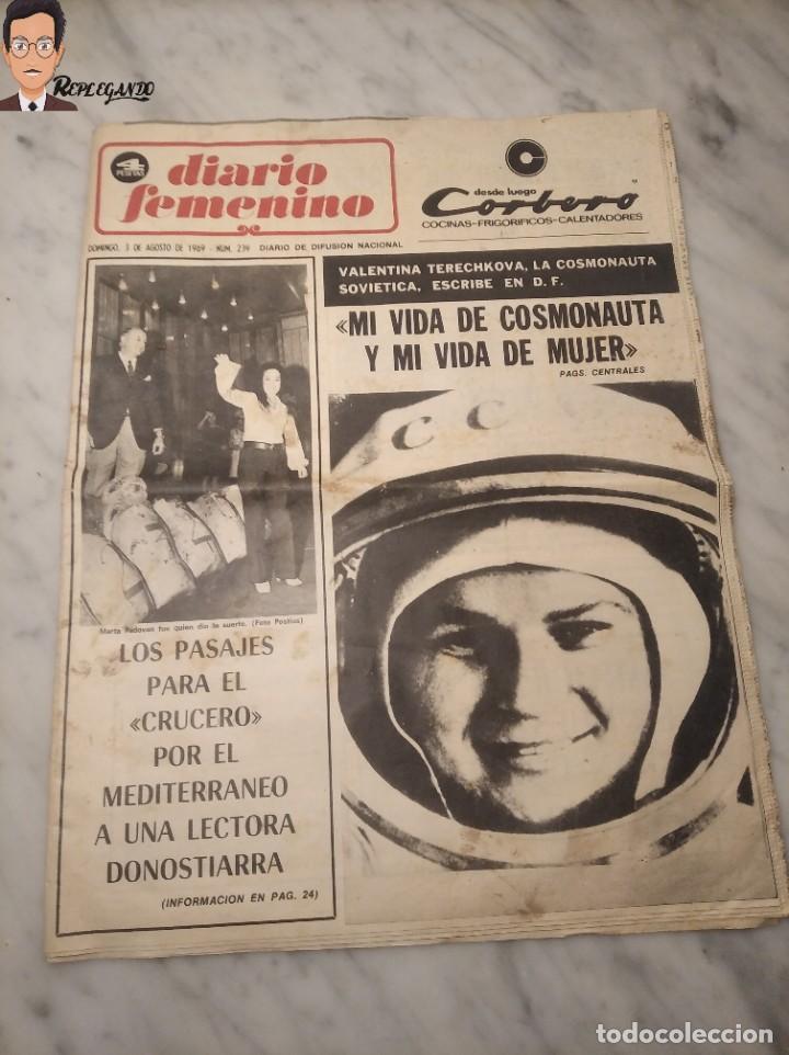 VALENTINA TERESCHCOVA - DIARIO FEMENINO Nº 239 - (3 DE AGOSTO 1969) - GAVIOTA (AÑOS 60) (Coleccionismo Deportivo - Revistas y Periódicos - otros Fútbol)