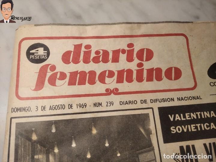Coleccionismo deportivo: VALENTINA TERESCHCOVA - DIARIO FEMENINO Nº 239 - (3 DE AGOSTO 1969) - GAVIOTA (AÑOS 60) - Foto 3 - 288927873
