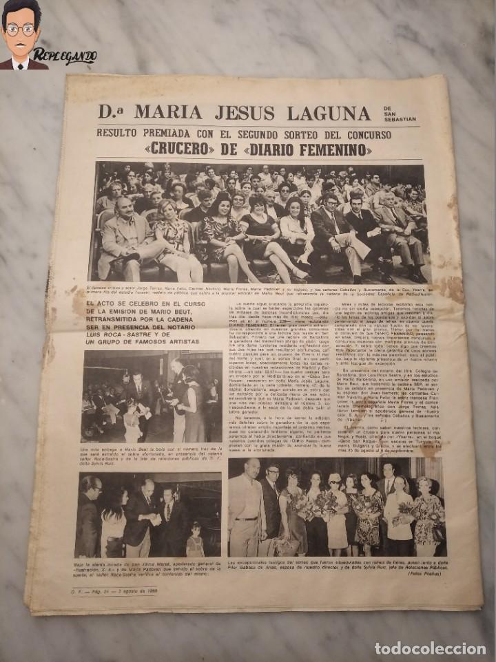 Coleccionismo deportivo: VALENTINA TERESCHCOVA - DIARIO FEMENINO Nº 239 - (3 DE AGOSTO 1969) - GAVIOTA (AÑOS 60) - Foto 4 - 288927873