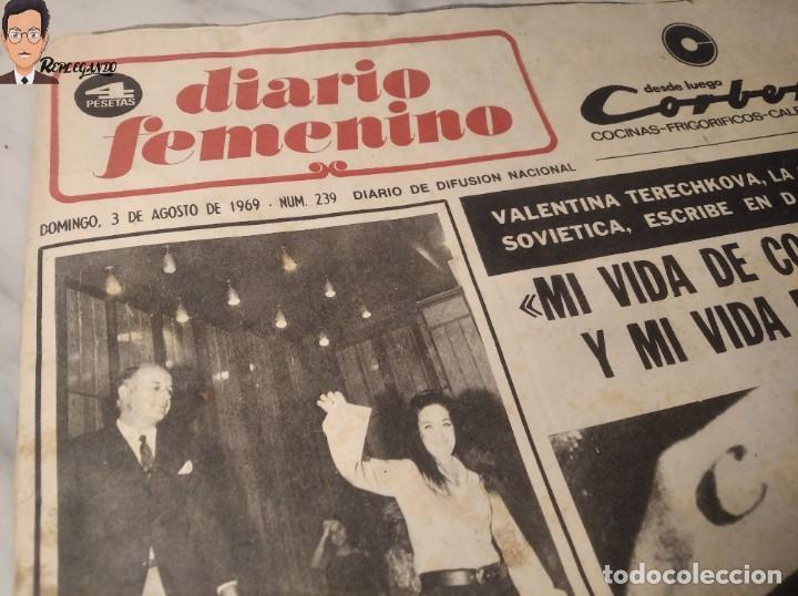 Coleccionismo deportivo: VALENTINA TERESCHCOVA - DIARIO FEMENINO Nº 239 - (3 DE AGOSTO 1969) - GAVIOTA (AÑOS 60) - Foto 12 - 288927873