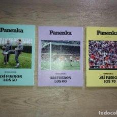 Coleccionismo deportivo: LOTE 3 REVISTA PANENKA, ASI FUERON LOS 70 LOS 60 Y LOS 50 NUMS 76 87 Y 98 EL FUTBOL QUE SE LEE. Lote 288942193