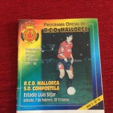 Coleccionismo deportivo: PROGRAMA OFICIAL REAL MALLORCA COMPOSTELA LIGA TEMPORADA 1997 1998. Lote 289329443