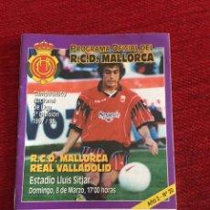 Coleccionismo deportivo: PROGRAMA OFICIAL REAL MALLORCA VALLADOLID LIGA TEMPORADA 1997 1998. Lote 289329508