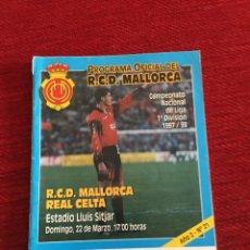 Coleccionismo deportivo: PROGRAMA OFICIAL REAL MALLORCA CELTA VIGO LIGA TEMPORADA 1997 1998. Lote 289329588