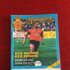 Coleccionismo deportivo: PROGRAMA OFICIAL REAL MALLORCA ESPAÑOL ESPANYOL LIGA TEMPORADA 1997 1998. Lote 289329653