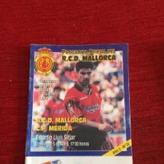 Coleccionismo deportivo: PROGRAMA OFICIAL REAL MALLORCA MERIDA LIGA TEMPORADA 1997 1998. Lote 289329948