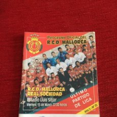 Coleccionismo deportivo: PROGRAMA OFICIAL REAL MALLORCA REAL SOCIEDAD LIGA TEMPORADA 1997 1998. Lote 289330533