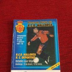 Coleccionismo deportivo: PROGRAMA OFICIAL REAL MALLORCA DEPORTIVO CORUÑA LIGA TEMPORADA 1997 1998. Lote 289330738