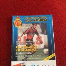 Coleccionismo deportivo: PROGRAMA OFICIAL REAL MALLORCA SALAMANCA LIGA TEMPORADA 1997 1998. Lote 289330828