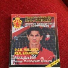 Coleccionismo deportivo: PROGRAMA OFICIAL REAL MALLORCA REAL ZARAGOZA LIGA TEMPORADA 1997 1998. Lote 289330933