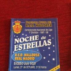 Coleccionismo deportivo: PROGRAMA OFICIAL REAL MALLORCA REAL MADRID LIGA TEMPORADA 1997 1998. Lote 289331048