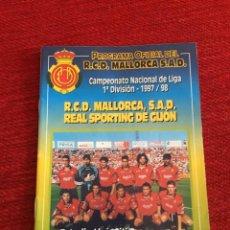 Coleccionismo deportivo: PROGRAMA OFICIAL REAL MALLORCA SPORTING GIJON LIGA TEMPORADA 1997 1998. Lote 289331398