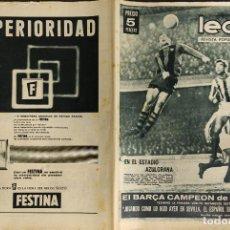 Coleccionismo deportivo: LEAN - Nº 436 - 6 ENERO 1964 - EL BARÇA CAMPEON DE INVIERNO. Lote 290063163