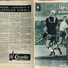 Coleccionismo deportivo: LEAN - Nº 458 - 8 JUNIO 1964 - SI EL BARÇA QUIERE LLEGAR A LA FINAL NO PUEDE REPETIRSE.... Lote 290072083