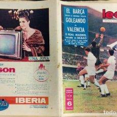 Coleccionismo deportivo: LEAN - Nº 437 - 13 ENERO 1964 - EL BARÇA GOLEA AL VALENCIA. Lote 290072843