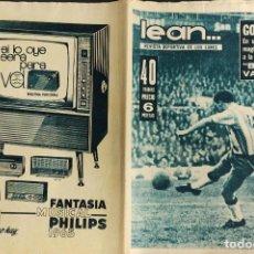 Coleccionismo deportivo: LEAN - Nº 483 - 14 DICIEMBRE 1964 - GOYVAERTS ABRIO PASO A LA GRAN VICTORIA DEL BARÇA. Lote 290073598
