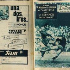 Coleccionismo deportivo: LEAN - Nº 490 - 1 FEBRERO 1965 - EL VALENCIA VENCIO A UN ESPAÑOL DECEPCIONANTE. Lote 290073978