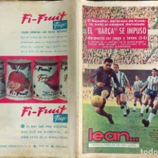 Coleccionismo deportivo: LEAN - Nº 451 - 20 ABRIL 1964 - BARÇA 6 ESPAÑOL 0 - EL ESPAÑOL DE KUBALA SALIO AL CESPED DERROTADO. Lote 290074553