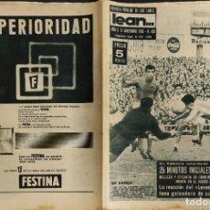 Coleccionismo deportivo: LEAN - Nº 428 - 11 NOVIEMBRE 1963 - EN VALENCIA RECORDARAN SIEMPRE LOS PRIMEROS 25 MIN. DEL BARÇA. Lote 290076623