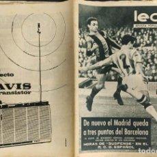Coleccionismo deportivo: LEAN - Nº 434 - 23 DICIEMBRE 1963 - DE NUEVO EL MADRID QUEDA A 3 PUNTOS DEL BARCELONA. Lote 290077013