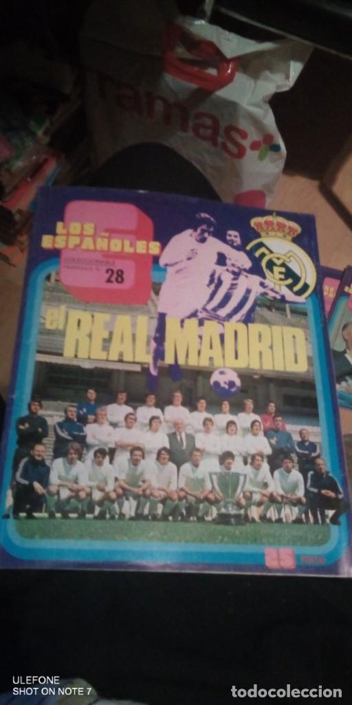Coleccionismo deportivo: 2 REVISTAs LOS ESPAÑOLES Nº 28. MONOGRÁFICO DEDICADO AL REAL MADRID.y bernabeu numero 9 - Foto 2 - 290130603