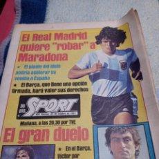 Coleccionismo deportivo: MARADINA SPORT OCTUBRE 1981. EL MADRID DETRÁS DE MARADONA.. Lote 290135873