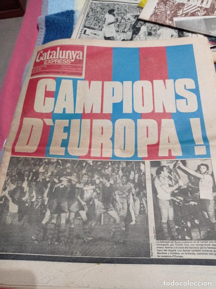 EL PERFINAL BASILEA. 1979.CATALUNYA EXPRESS. BARCA 2 SAMPDORIA 0 (Coleccionismo Deportivo - Revistas y Periódicos - otros Fútbol)