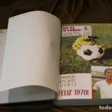 Coleccionismo deportivo: REVISTA DEL REAL MADRID, AÑO 1970, COMPLETO, ENCUADERNADA EN TELA. Lote 292413143
