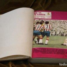 Coleccionismo deportivo: REVISTA DEL REAL MADRID, AÑO 1972, COMPLETO, ENCUADERNADA EN TELA. Lote 292413263