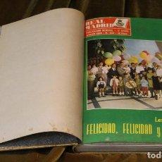 Coleccionismo deportivo: REVISTA DEL REAL MADRID, AÑO 1969, COMPLETO, ENCUADERNADA EN TELA. Lote 292413303