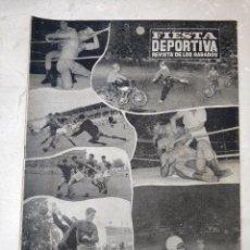 Coleccionismo deportivo: REVISTA FIESTA DEPORTIVA - AÑO 1 - NUMERO 18 - 18 DE JUNIO DE 1960 - VALENCIA, LEVANTE, PICAÑA, ETC. Lote 293342708