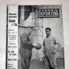 Coleccionismo deportivo: REVISTA FIESTA DEPORTIVA - AÑO 2 - NUMERO 50 - 28 ENERO DE 1961 - VALENCIA CF, GRIFFA, ETC. Lote 293348603