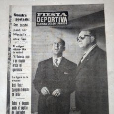 Coleccionismo deportivo: REVISTA FIESTA DEPORTIVA - AÑO 2 - NUMERO 60 - 1 ABRIL DE 1961 - VALENCIA CF, ETC. Lote 293349038