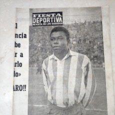 Coleccionismo deportivo: REVISTA FIESTA DEPORTIVA - AÑO 2 - NUMERO 67 - 27 MAYO DE 1961 - VALENCIA CF, ETC. Lote 293349303