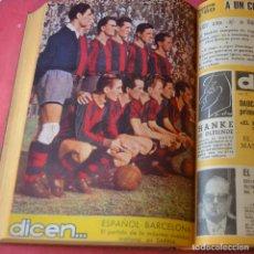 Coleccionismo deportivo: DICEN... - 21 REVISTAS DE FUTBOL - AGOSTO DICIEMBRE 1953 + EXTRA NAVIDAD BARCELONA ESPAÑOL - VER. Lote 293432238
