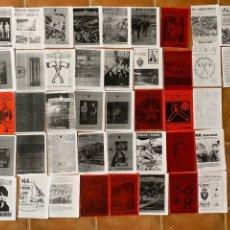 Coleccionismo deportivo: LOTE 42 FANZINES INDAR GORRI-NA TRINCHERA-DESKARGA ULTRA. Lote 296578413