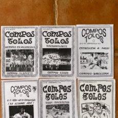 Coleccionismo deportivo: LOTE 6 FANZINES COMPOS TOLOS COMPOSTOLOS ULTRAS COMPOSTELA. Lote 296579683