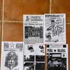 Coleccionismo deportivo: LOTE 5 FANZINES PEÑA MUJIKA-PUERTO HURRAKO-ENTABAN ULTRAS. Lote 296581498