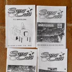 Coleccionismo deportivo: LOTE 4 FANZINES SANG CULÉ BARÇA ULTRAS BARCELONA. Lote 296581993
