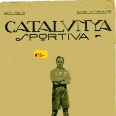 Collectionnisme sportif: REVISTA CATALUNYA SPORTIVA Nº 161 14-1-1920 RARISIMA. Lote 4954265