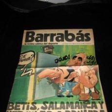 Coleccionismo deportivo: BARRABAS .-LA REVISTA SATIRICA DEL DEPORTE.- AÑO III.- Nº 87.- 28 DE MAYO DE 1974. Lote 8933497
