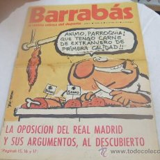 Collectionnisme sportif: BARRABAS - AÑO II - NUMERO 36 - 5 JUNIO 1973. Lote 15450476
