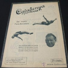 Coleccionismo deportivo: CATALUNYA SPORTIVA - AÑO VI - Nº 251 - 11 OCTUBRE 1921. Lote 26959833