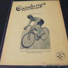 Coleccionismo deportivo: CATALUNYA SPORTIVA - AÑO V - Nº 192 - 17 AGOSTO 1920. Lote 27416027