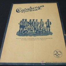 Coleccionismo deportivo: CATALUNYA SPORTIVA - AÑO V - Nº 178 - 11 MAYO 1920. Lote 205289768