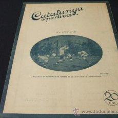 Coleccionismo deportivo: CATALUNYA SPORTIVA - AÑO V - Nº 164 - 5 FEBRERO 1920. Lote 24086460
