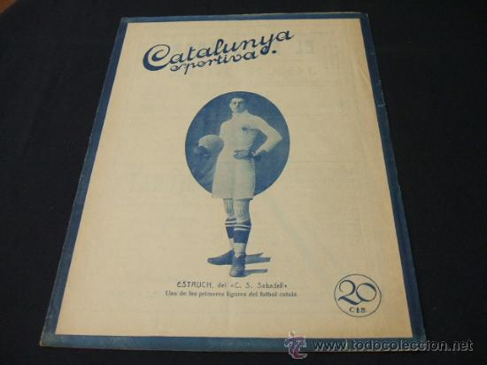 CATALUNYA SPORTIVA - AÑO V - Nº 175 - 20 ABRIL 1920 (Coleccionismo Deportivo - Revistas y Periódicos - Catalunya Sportiva)