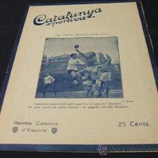 Coleccionismo deportivo: CATALUNYA SPORTIVA - AÑO VI - Nº 217 - 15 FEBRERO 1921. Lote 26066228